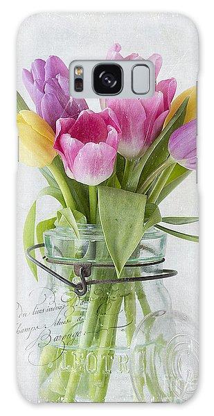 Tulips In A Jar Galaxy Case