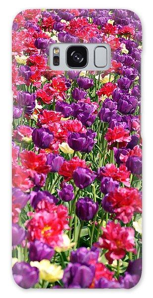 Tulips In A Meadow Galaxy Case