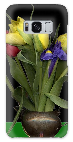 Jug Galaxy Case - Tulips In Pewter Vase by Margaret Hockney