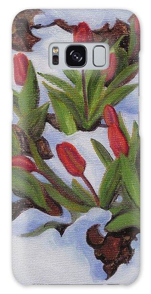 Tulips In Snow Galaxy Case