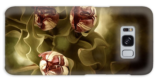 Tulips In The Mist II Galaxy Case by Beve Brown-Clark Photography