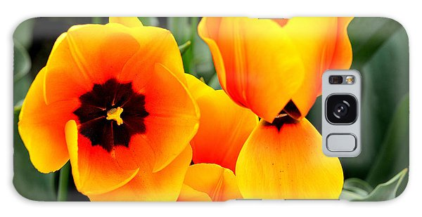 Tulips... Galaxy Case by Jerry Cahill
