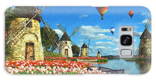 Hot Air Balloons Galaxy Case - Tulips Of Amsterdam by Dominic Davison