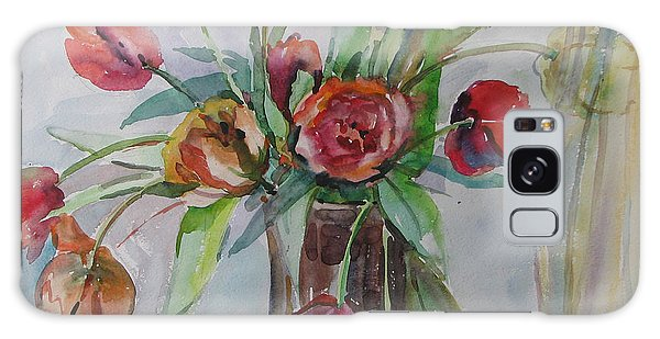 Tulips On A Window Galaxy Case