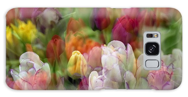 Tulips Galaxy Case by Penny Lisowski
