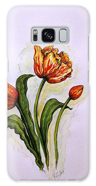 Tulips Galaxy Case by Rae Chichilnitsky