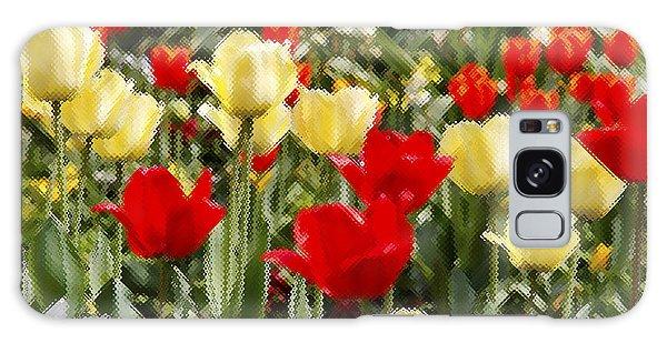 Galaxy Case - Tulips Through Window by Frank Savarese