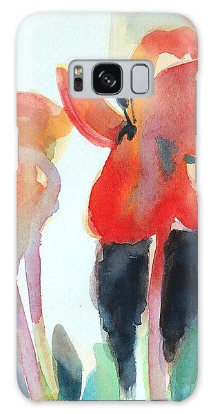 Tulips Together Galaxy Case by Kathy Braud