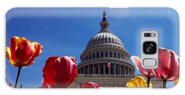 Tulips With A Government Building Galaxy Case by Panoramic Images