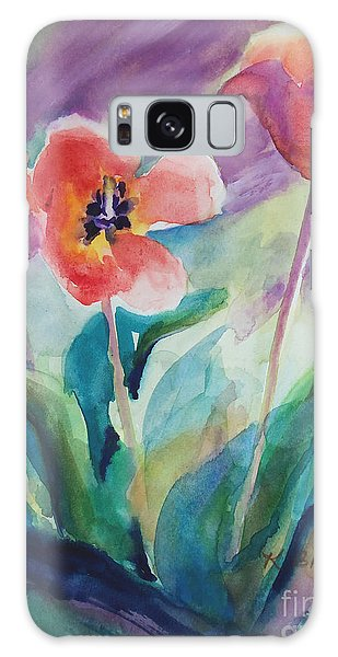 Tulips With Lavender Galaxy Case by Kathy Braud