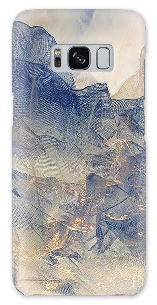Tulle Mountains Galaxy Case by Klara Acel