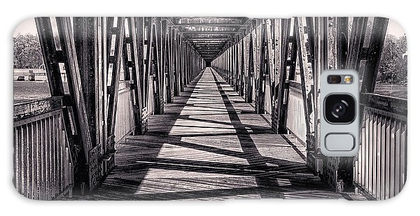 Tulsa Pedestrian Bridge In Black And White Galaxy Case by Tamyra Ayles