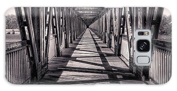 Tulsa Pedestrian Bridge In Black And White Galaxy Case
