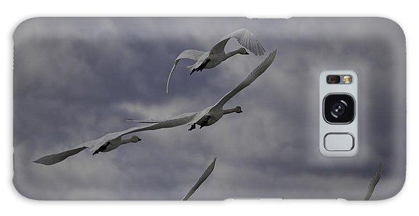 Tundra Swans Taking Flight 1 Galaxy Case
