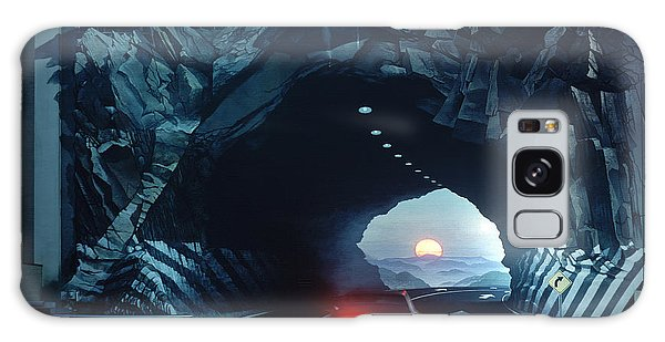 Tunnelvision Galaxy Case by Blue Sky