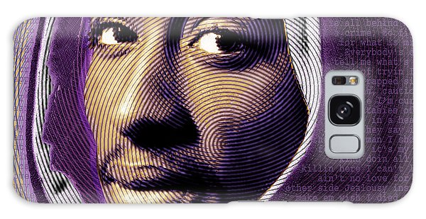 Tupac Shakur And Lyrics Galaxy Case by Tony Rubino