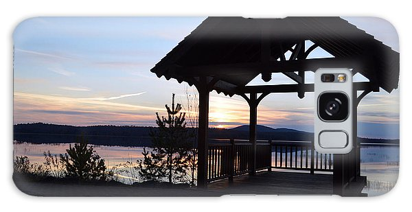 Tupper Lake Sunset Over Raquette Pond Galaxy Case
