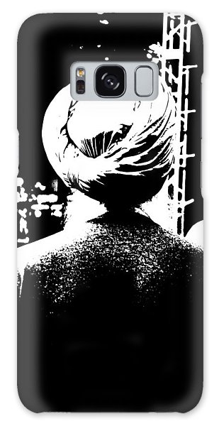 Turbante Blanco Y Negro Galaxy Case