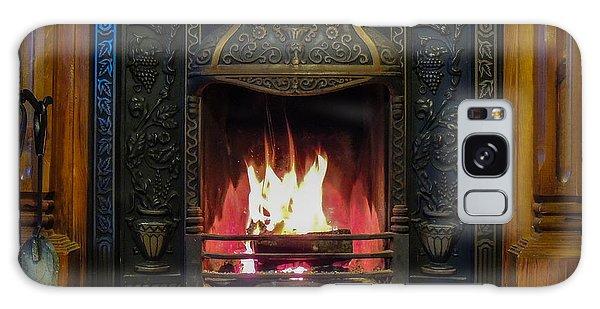 Turf Fire In Irish Cottage Galaxy Case