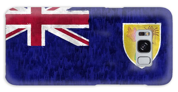 Bahamas Galaxy Case - Turks And Caicos Islands Flag by World Art Prints And Designs