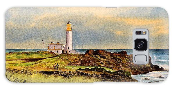 Turnberry Golf Course 9th Tee Galaxy Case by Bill Holkham