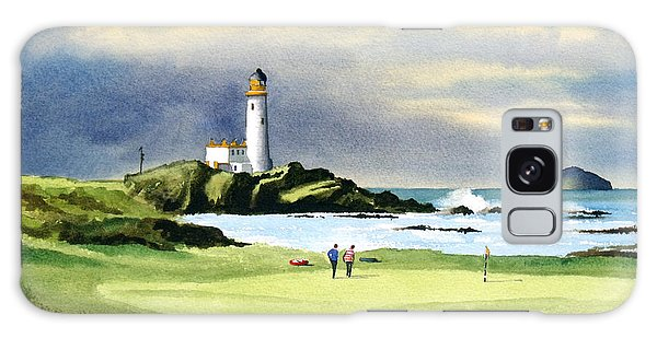 Turnberry Golf Course Scotland 10th Green Galaxy Case by Bill Holkham