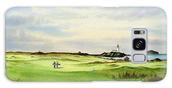 Turnberry Golf Course Scotland 12th Tee Galaxy Case by Bill Holkham