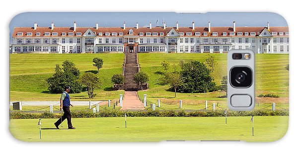 Turnberry Hotel Galaxy Case by Fiona Messenger