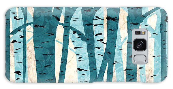 Turquoise Birch Trees Galaxy Case