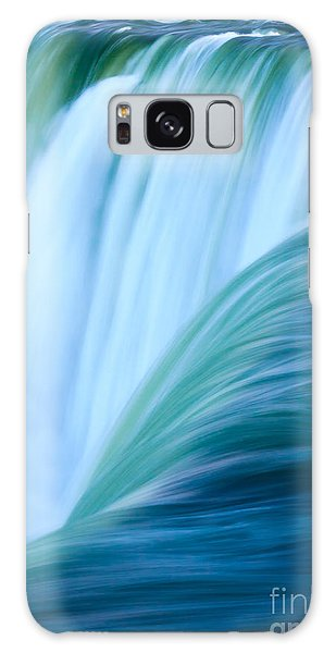 Turquoise Blue Waterfall Galaxy Case