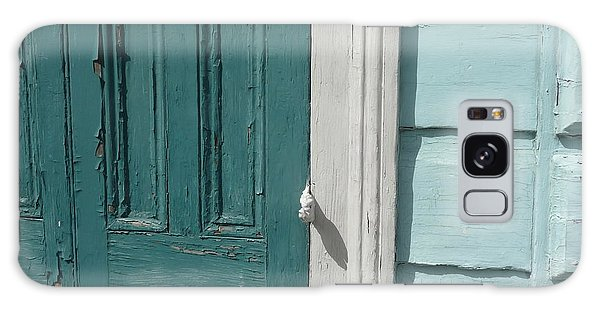 Turquoise Door Galaxy Case by Valerie Reeves