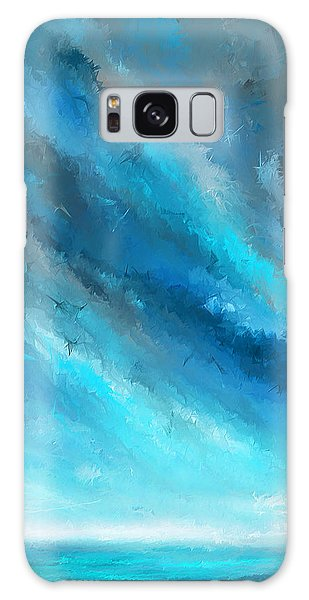 Turquoise Memories - Turquoise Abstract Art Galaxy Case
