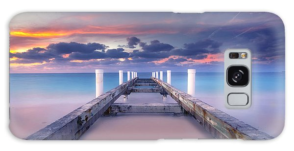 Pier Galaxy Case - Turquoise Paradise by Marco Crupi