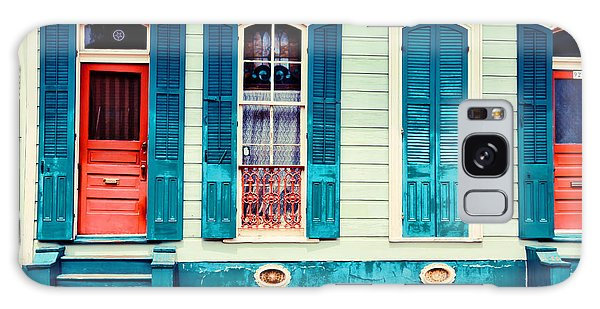 Turquoise Shutters Galaxy Case