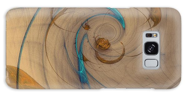 Turquoise Spiral Galaxy Case