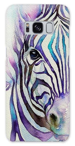 Turquoise Stripes Zebra Galaxy Case