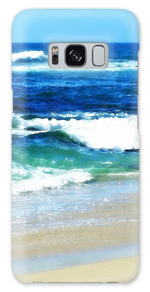 Turquoise Waves... Galaxy Case by Sharon Soberon