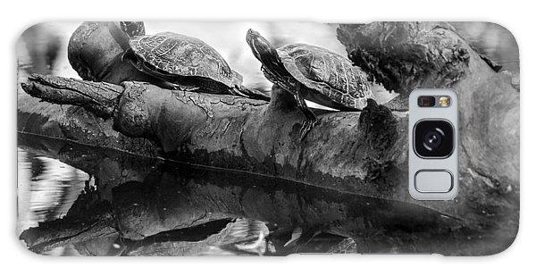 Turtle Bffs Bw By Denise Dube Galaxy Case