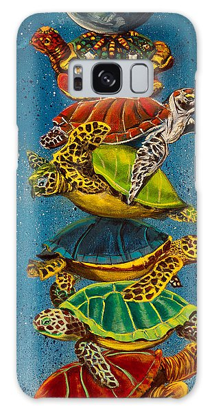 Turtles All The Way Down Galaxy Case by Susan Culver