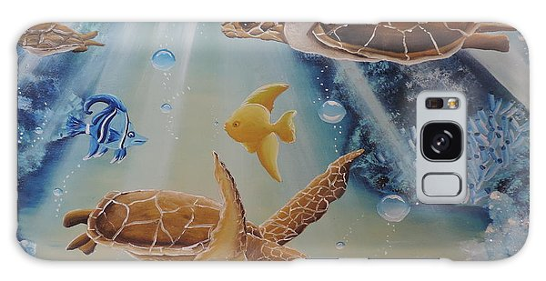 Turtles At Sea #2 Galaxy Case by Dianna Lewis