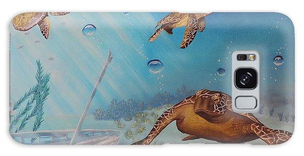 Turtles At Sea Galaxy Case