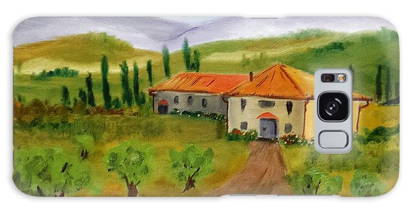 Tuscan Cottage Galaxy Case