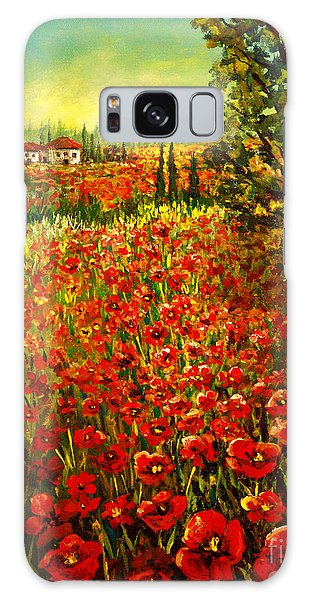 Tuscan Poppies Galaxy Case