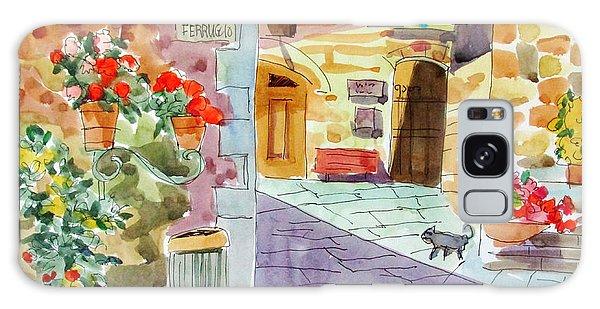 Tuscan Street Scene Galaxy Case