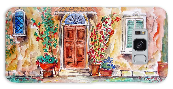 Tuscan Villa Door Water Color Galaxy Case by Roberto Gagliardi