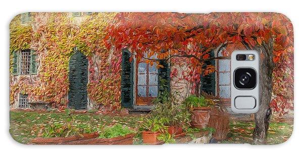Tuscan Villa In Autumn Galaxy Case