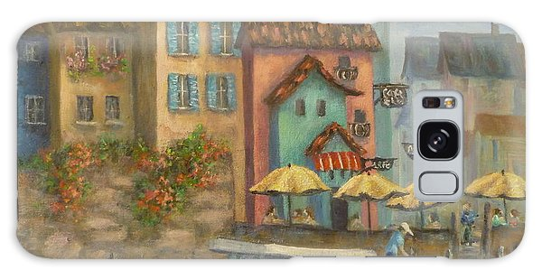 Tuscan Village Boat Paintings Galaxy Case
