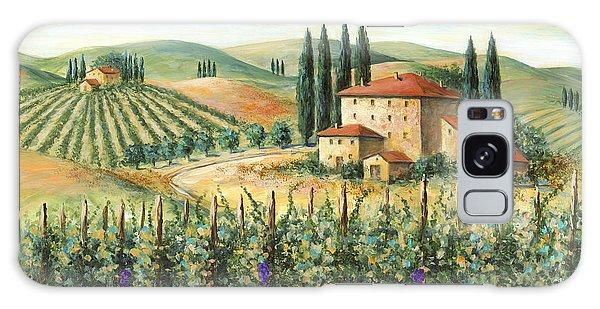 Tuscan Vineyard And Villa Galaxy Case