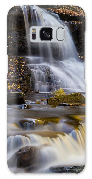 Tuscarora Falls At Ricketts Glen In Autumn Galaxy Case