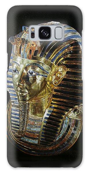 Tutankamon's Golden Mask Galaxy Case by Leena Pekkalainen